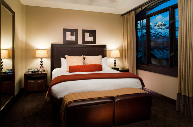 Suite 40 master bedroom of the Lumiere, Telluride, CO.