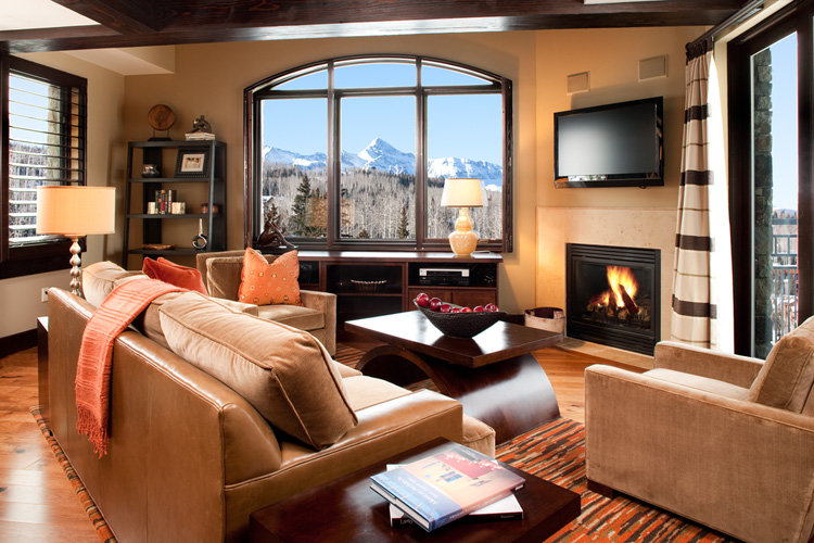 Suite 67 living room of the Lumiere, Telluride, CO.