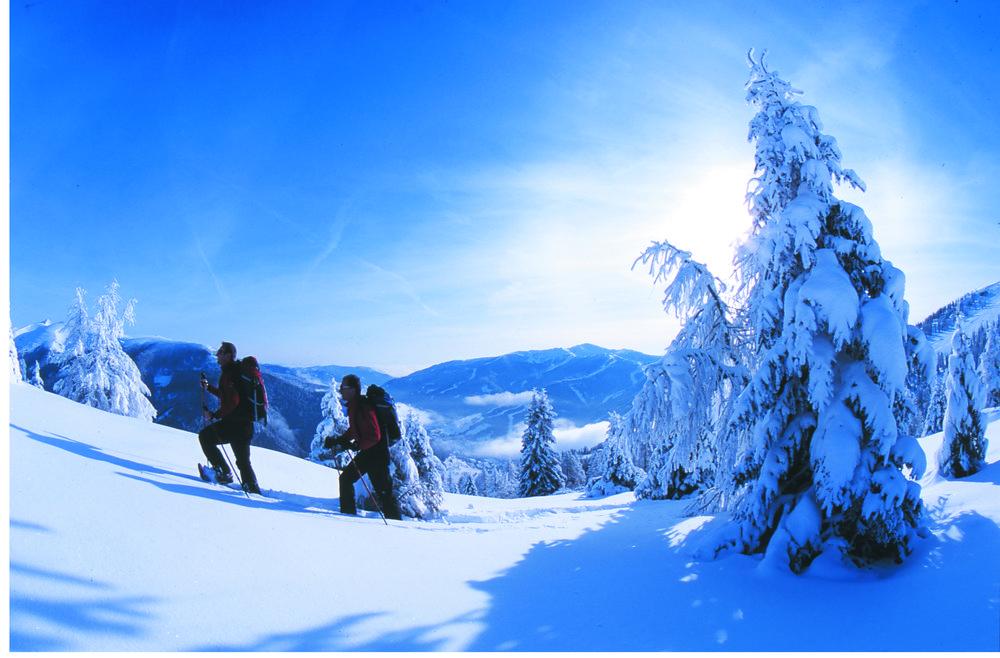 Snowshoers in Bad Kleinkirchheim