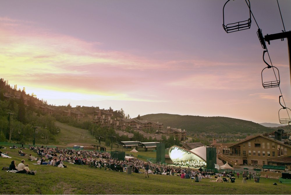 A variety of musical entertainment is offered during Deer Valley Resort's summer concert season held in the Snow Park Lodge Outdoor Amphitheater.