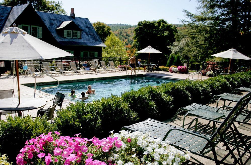 The pool at Castle Hill Resort, Cavendish, Vermont.