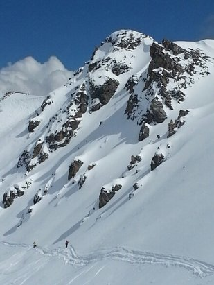 Marmot Basin - knob was great today. able to find fresh lines all day.