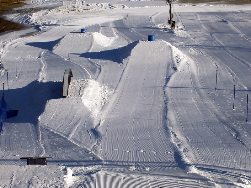 A view of the terrain park at Mountain Creek Resort, New Jersey