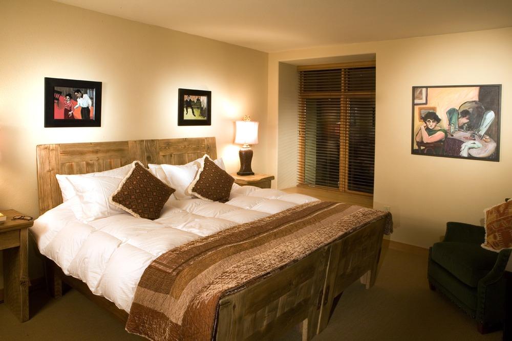 Sleeping area in Edelweiss, Taos, NM.
