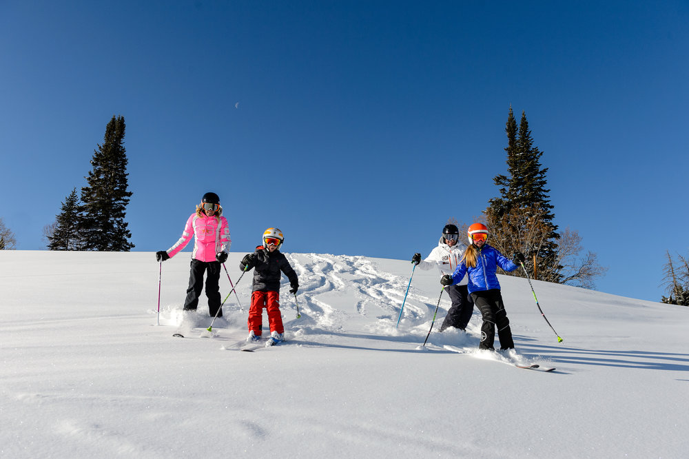 Fresh Tracks family at Beaver Creek, Colorado. - ©Chris McLennan