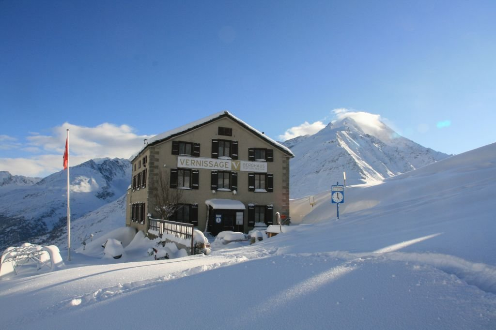 The Vernissage Berhaus restaurant in Saas Fee, Switzerland