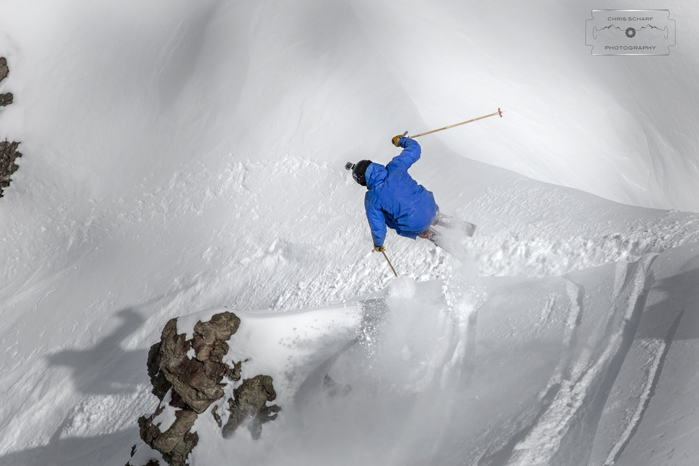 Skier Andrew Rumph taking advantage of the Portillo powder paradise. - ©Chris Scharf Photography