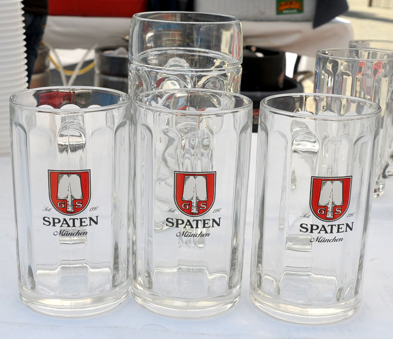Spaten glasses at Mammoth's Oktoberfest.