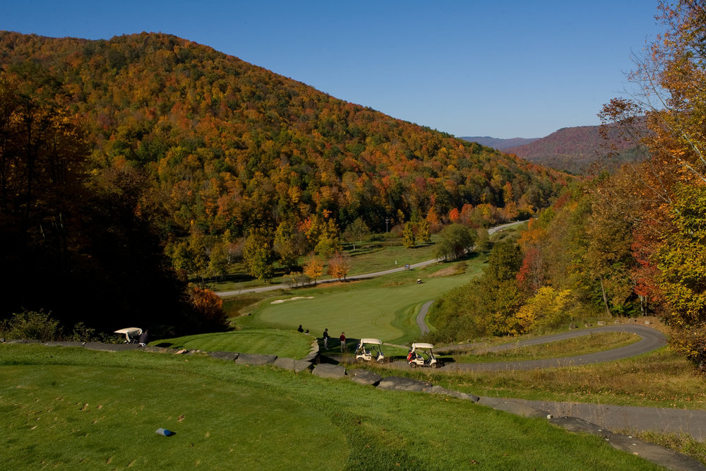 Raven Golf Club in fall, Snowshoe, WV.