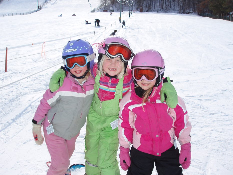Lisa, Elle and Megan pause for a photo at Wild Mountain, MN