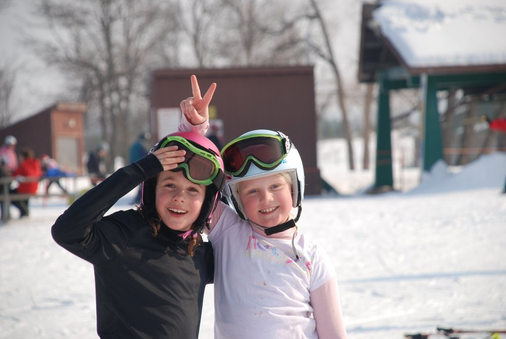 Young skiers at Wild Mountain, MN