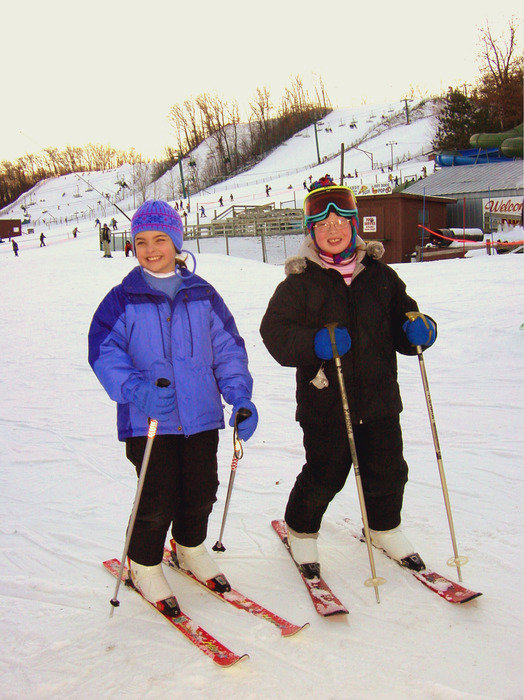 Gracie and Taylor pause for a photo at Wild Mountain, MN