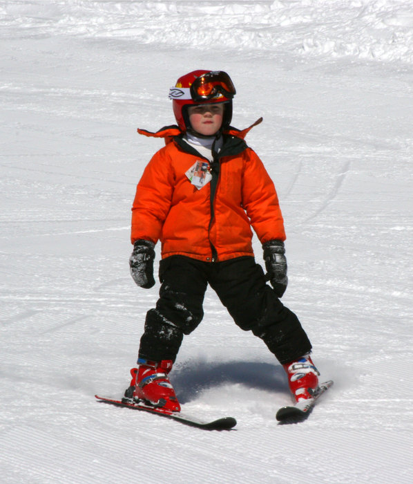 Kid skiing at Wild Mountain, MN