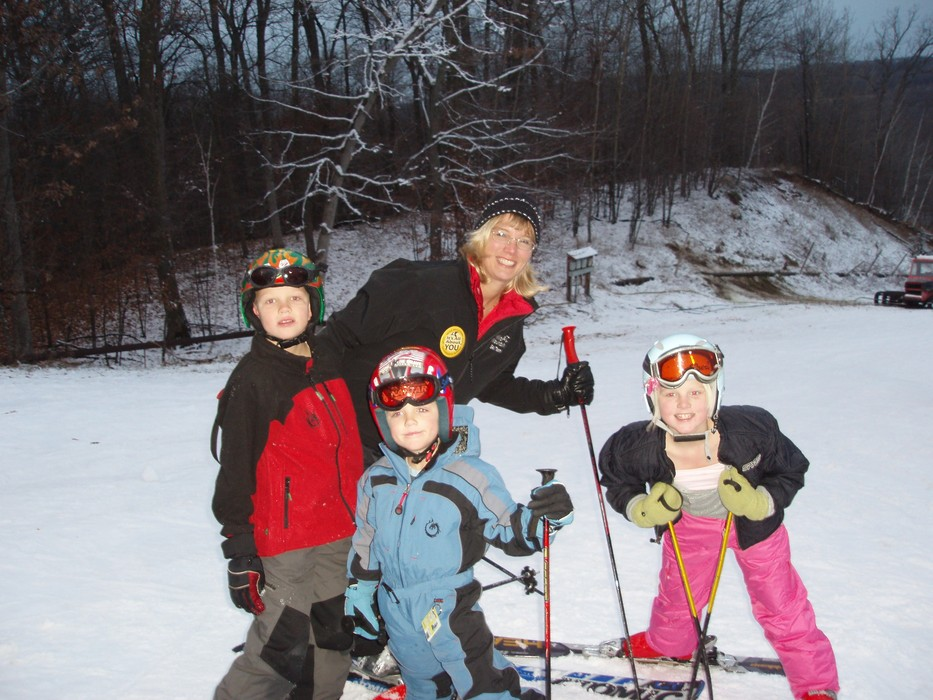 A group of skiers pause for a photo at Wild Mountain, MN