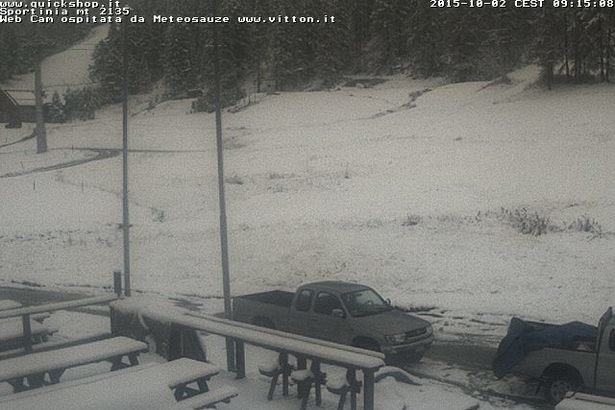 Sauze d'Oulx, Neve fresca 02.10.15 - ©Vialattea webcam