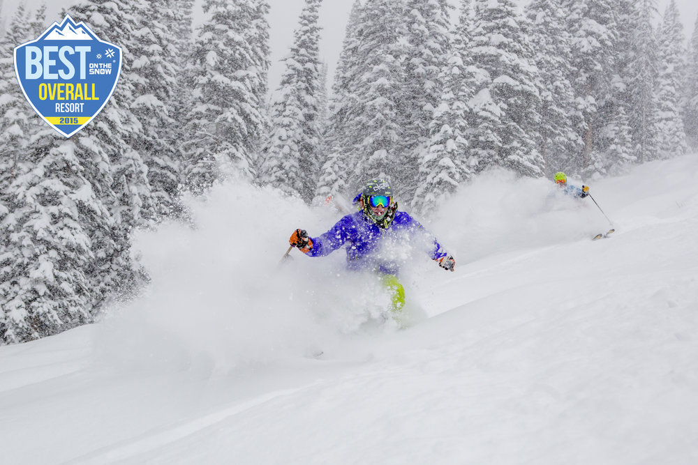 Chris Anthony and Palmer Hoyt getting after the Beaver Creek goods. - ©Zach Mahone