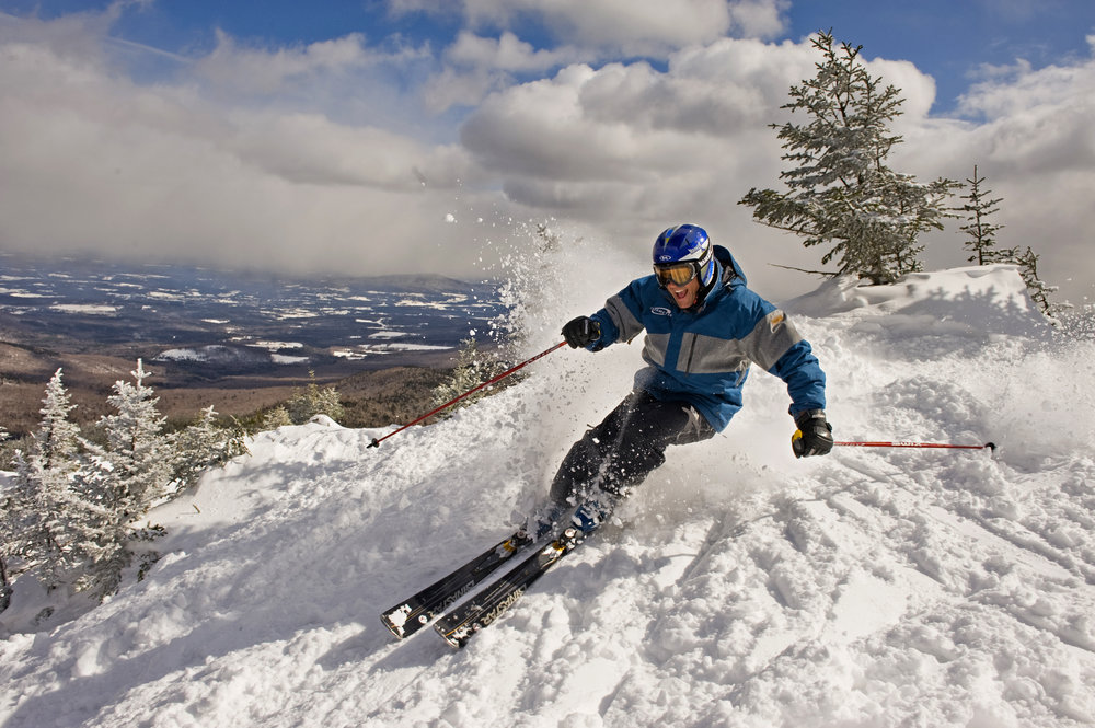 Skier at Smugglers' Notch, Vermont