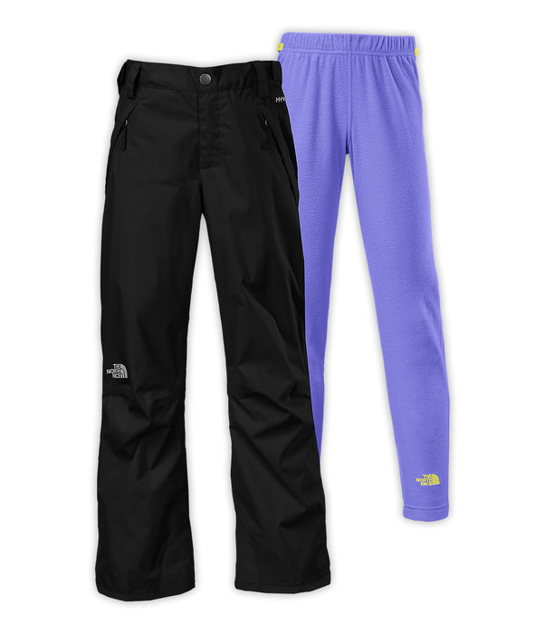 The North Face Girls' Snowquest Triclimate Pants: $120 Get her ready for snowsports fun this winter with these 3-in-1 Triclimate® snow pants that pair a waterproof shell with removable, quick-drying midweight fleece pants. The fleece liner pants make it easy for her to change out of her shell pants in the lodge after a long day on the hill.