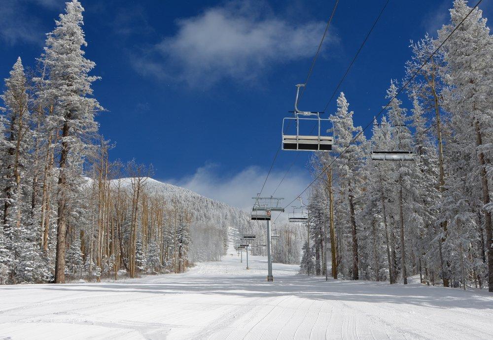 The new Humphreys lift at Arizona Snowbowl services intermediate runs. - ©Arizona Snowbowl