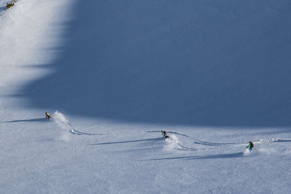 Perfect turns on a perfect day in the Mammoth backcountry. - ©Liam Doran