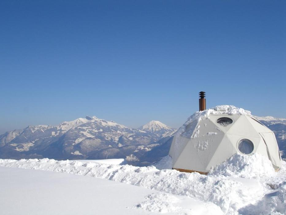 Whitepod Resort at Portes du Soleil-Chablais.