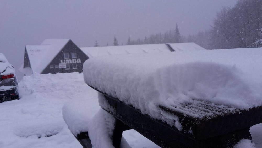 Snowfall on Skalka 10.2.2016 - ©Skalka Arena facebook