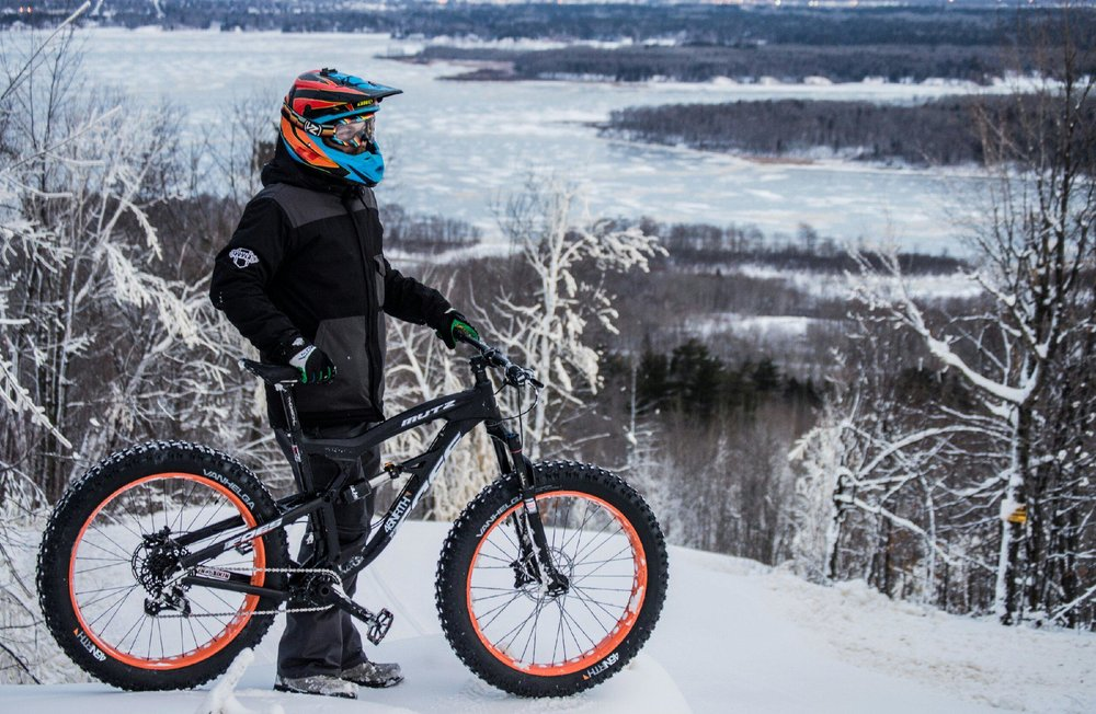 Fat bikers can ride at Spirit Mountain in winter. - ©Spirit Mountain