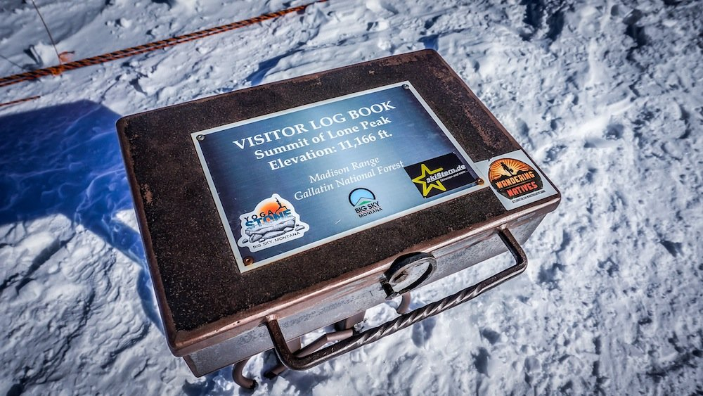 Don't forget to sign the log book on top of Lone Peak. - ©Eric Slayman