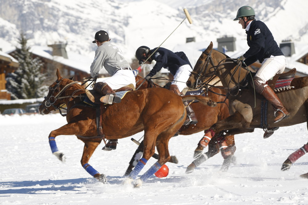 Polo in the snow at Megeve, FRA.