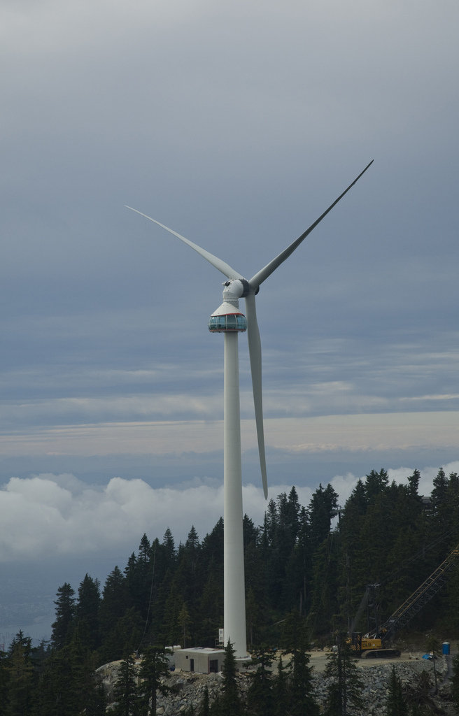 The Eye of the Wind generator tower at Grouse Mtn, BC.