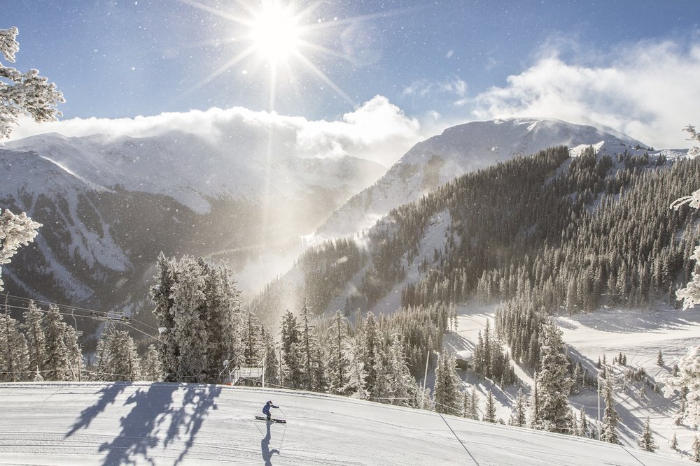 Fresh snow and sun at Taos. - ©Taos Ski Valley