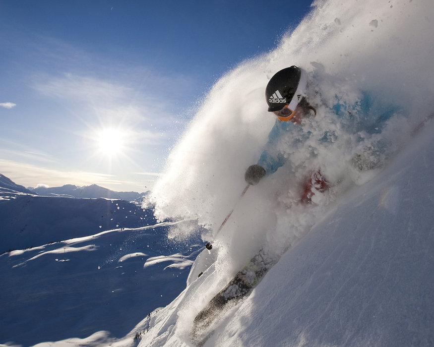 Diving down powder at Whistler Blackcomb. - ©Whistler Blackcomb
