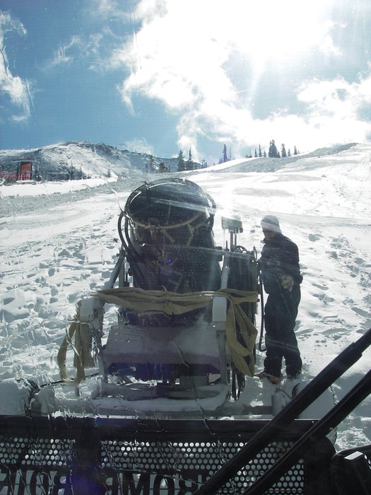 Snowmaking at A-basin, CO, 10/23/9 by Carly Bartlein.