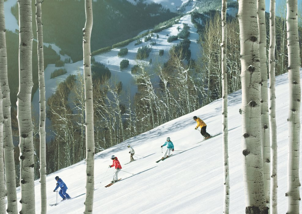 Cruising Beaver Creek groomers. - ©Vail Resorts