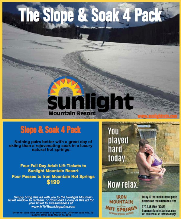Sunlight's Soak and Soak 4-Pack just $199! - ©Sunlight Mountain Resort