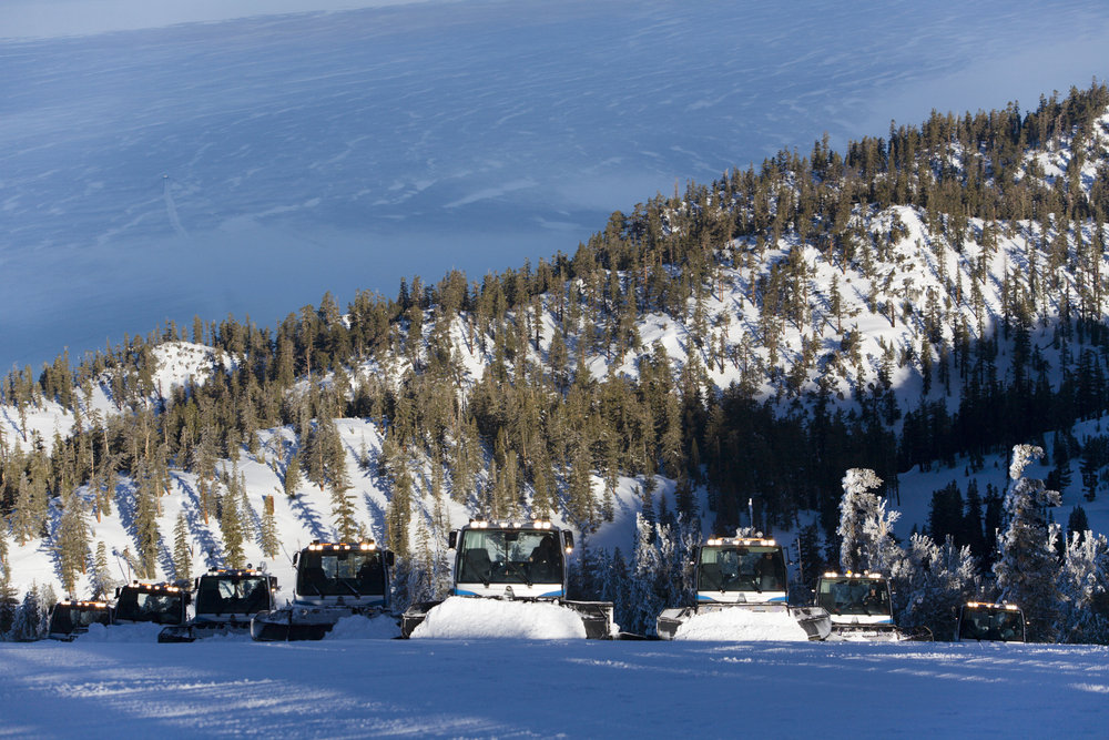 A grooming fleet at Heavenly CA