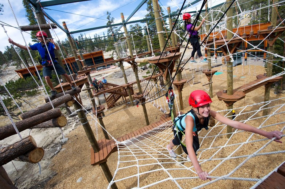 Navigating the Ropes Challenge Course.  - ©Heavenly Mountain Resort