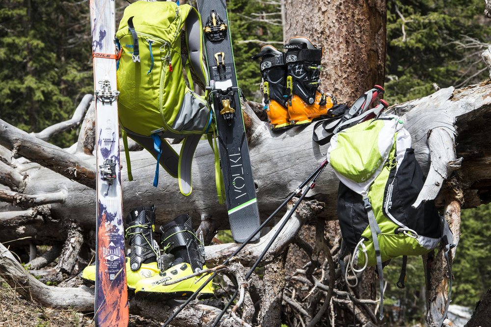 Alpine Touring or randonee gear work well for summer ski adventures, and avalanche safety gear is a must. - ©Liam Doran
