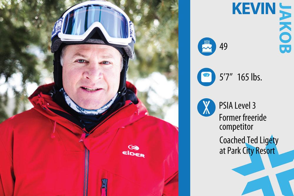 "Kevin Jakob. Job in real life: Ski instructor. First ski memory: ""At age 6, I remember breaking my leg at Boreal Ski Resort in Soda Springs, California."" - ©Liam Doran"