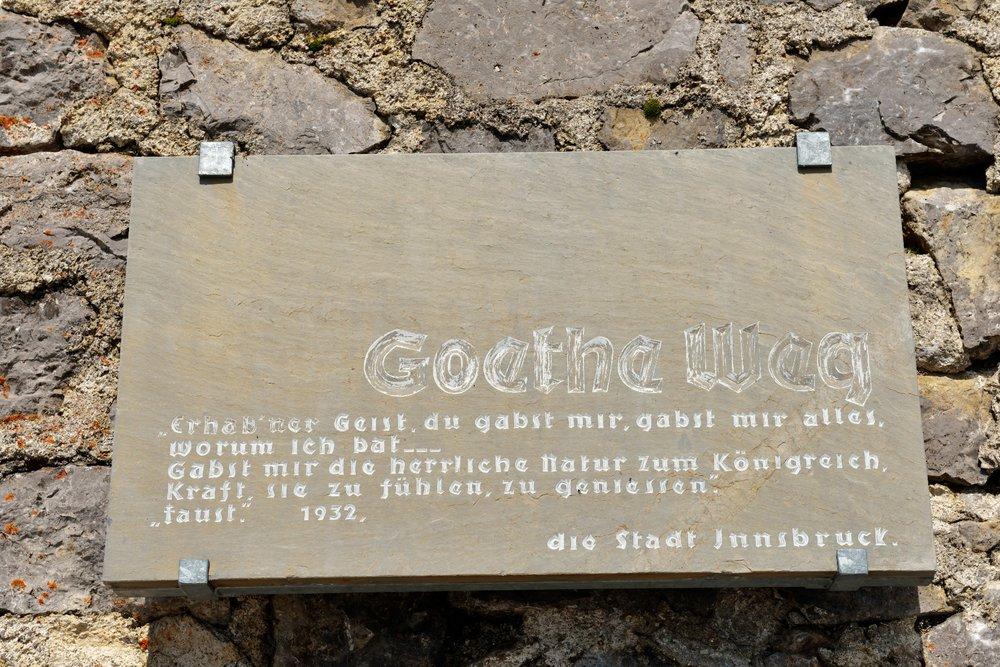 Auch ein Goethe-Zitat säumt den Wanderweg - ©Norbert Eisele-Hein