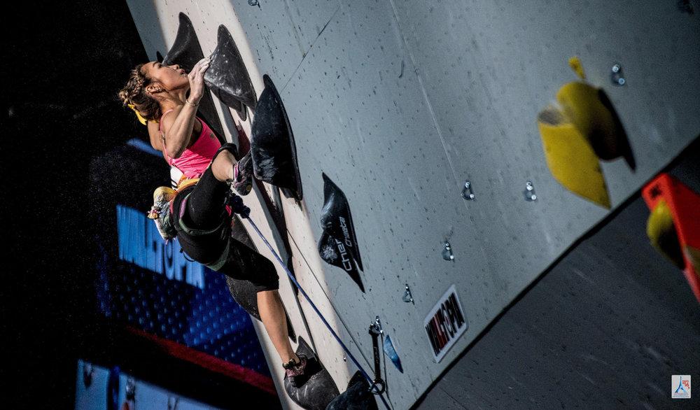 Jain Kim (KOR) verpasste so knapp wie nur möglich die Bronze-Medaille - ©FFME / Agence Kros - Remi Fabregue