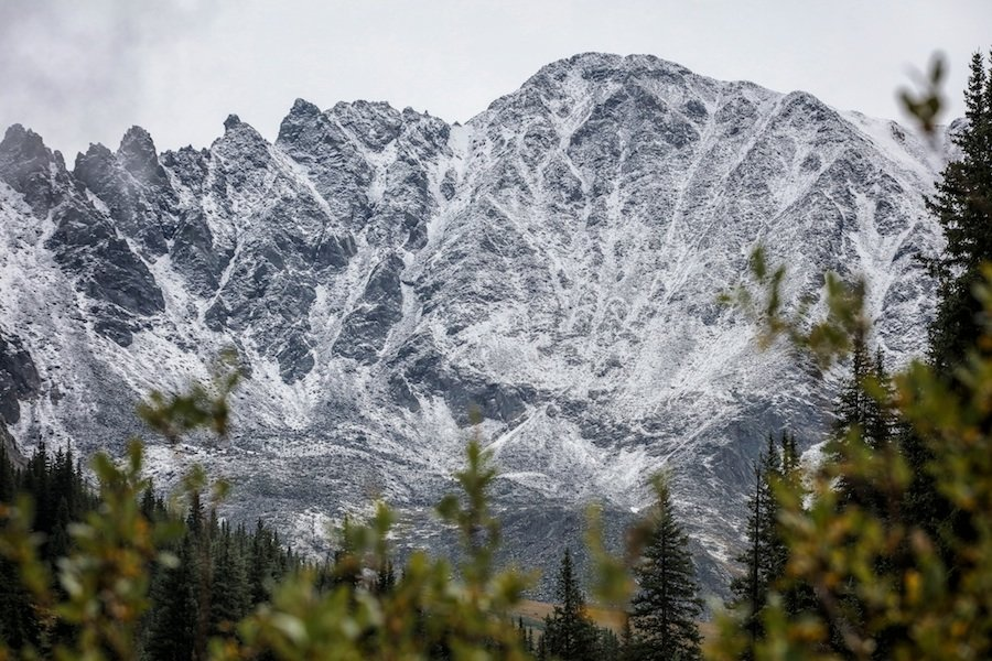 The mountains around Copper holding some of the winter's first snow. - ©Tripp Fay, Copper Mountain Resort