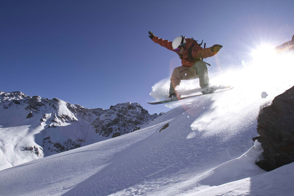 Snowboarder at Silverton, CO by Scott D.W. Smith.