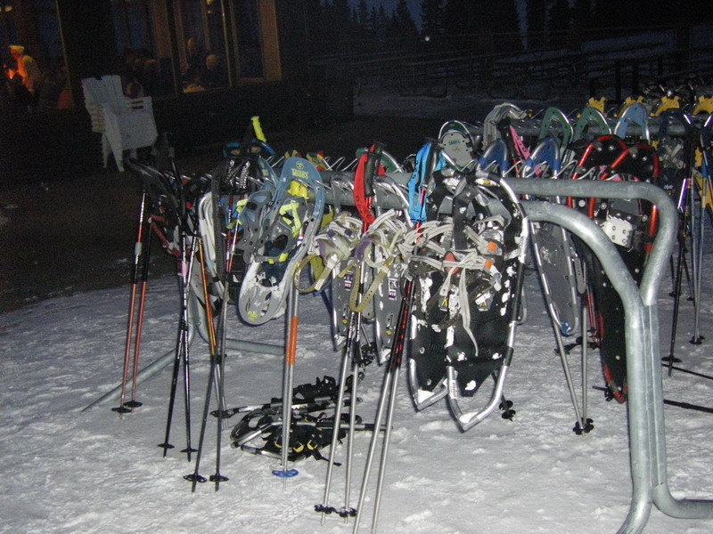 Snowshoe rack at Arapahoe Basin CO