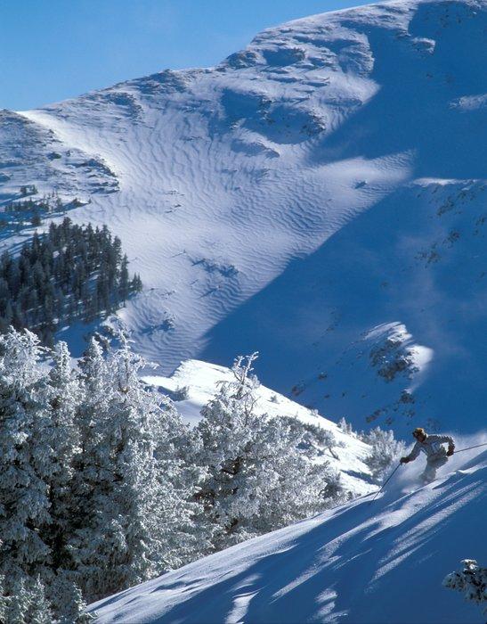 Skier descending Kachina Peak. Photo by Ken Gallard. - ©Ken Garland