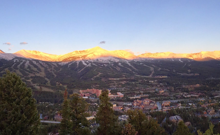 Early season snow and sun on Breckenridge. - ©Breckenridge Ski Resort