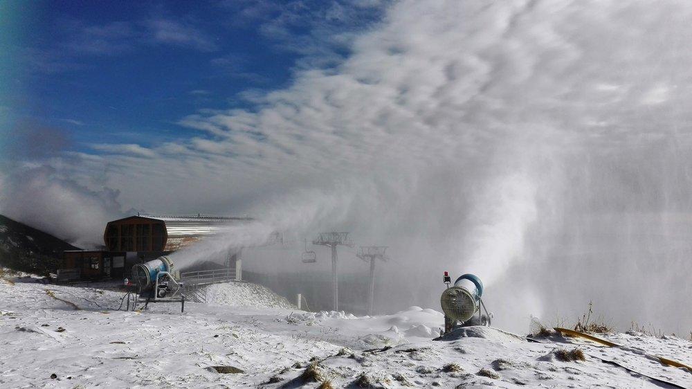 Snežné delá na Solisku, 8.11.2016 - ©TMR, a.s.