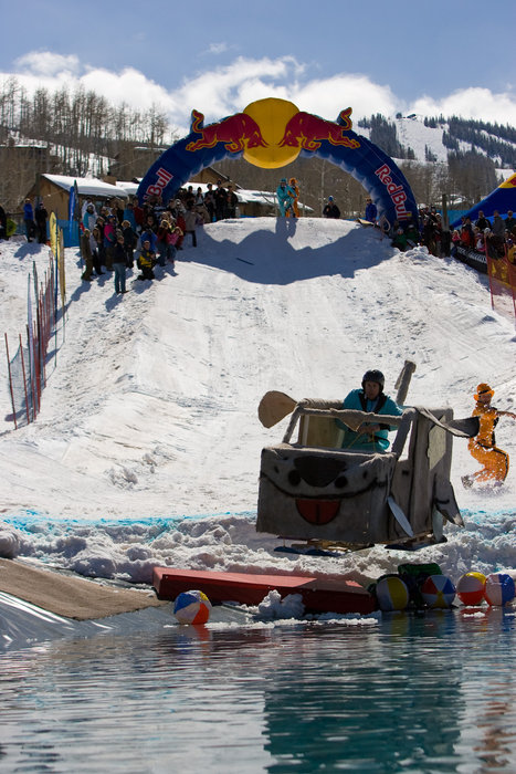 Red Bull pondskim event at Aspen.  3rdPlace_I_Got_Worms_PhotoOfDavidKline Photo by Jeremy Swanson