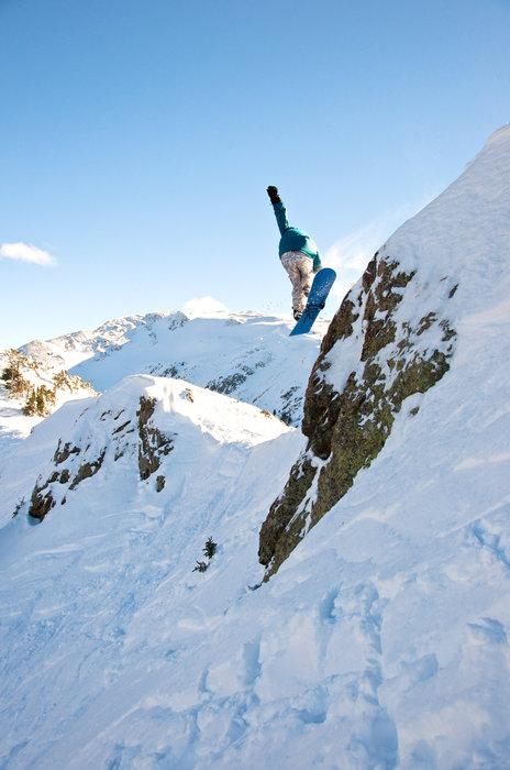 Taos NM Snowboarder 1. Photo by Thatcher Dorn.