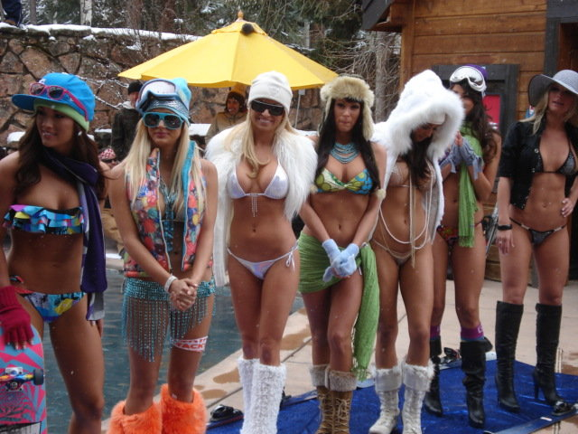 Aspen CO Hooters Bikini Fashion Show